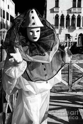 Photograph - Venice Carnival Clown Shadows by John Rizzuto