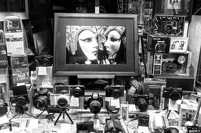 Photograph - Venice Carnival Photo Shop by John Rizzuto
