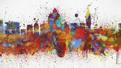 Painting - Venice Colorful Skyline by Dan Sproul