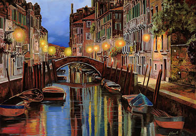 Painting Royalty Free Images - venice for DIANE Royalty-Free Image by Guido Borelli