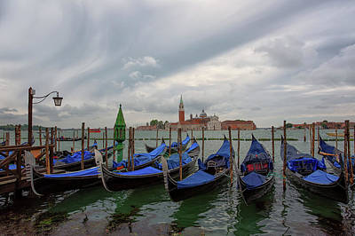 Photograph - Venice Gondola's Grand Canal by Nathan Bush