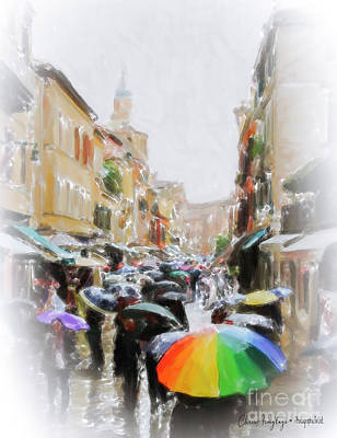 Painting - Venice In The Rain by Chris Armytage