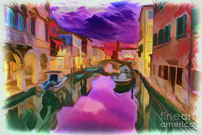 Painting - Venice Italy A1927 by Ray Shrewsberry