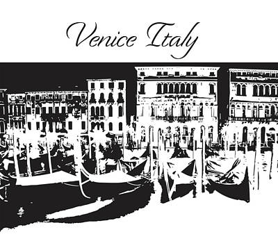 Photograph - Venice Italy Silhouette by John McGraw