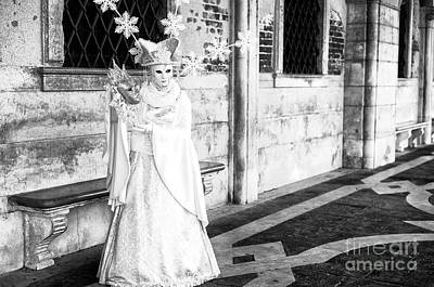 Photograph - Venice Snow Princess At Carnival by John Rizzuto