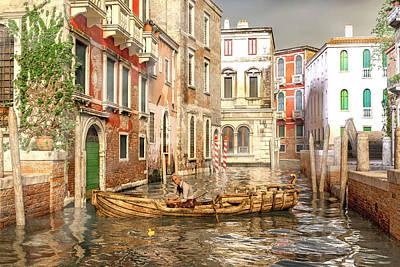 Surrealism Digital Art - Venice The Little Yellow Duck by Betsy Knapp