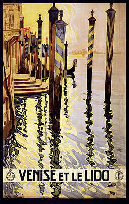 Photograph - Venice Travel Poster by Graphicaartis