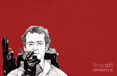 Drawing - Venkman in red by Jason Tricktop Matthews
