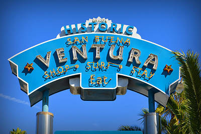 Photograph - Ventura Sign by Glenn McCarthy Art and Photography