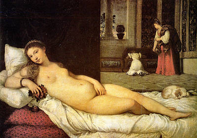 Painting - Venus Of Urbino 1538  by Titian 1488 - 1576