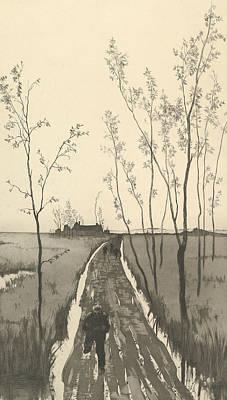 Relief - Verfolgung, From The Series Radierte Skizzen by Max Klinger