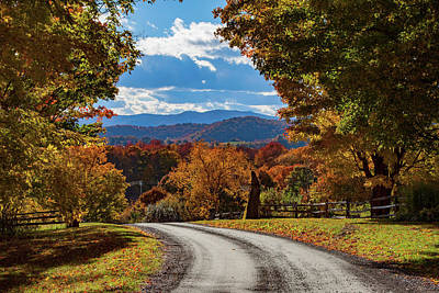Photograph - Vermont Backroad Ramble In Autumn by Jeff Folger
