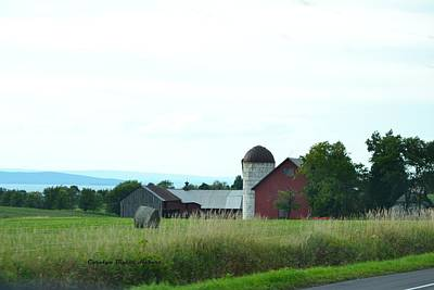 Wall Art - Photograph - Vermont Barn With Grain Storage by Carolyn Hebert