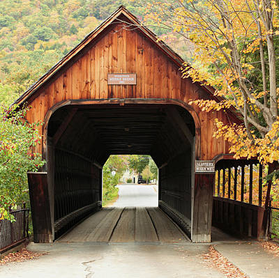Vermont Photograph - Vermont Covered Bridge by S. Greg Panosian