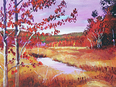 Painting - Vermont Creek by David Lloyd Glover