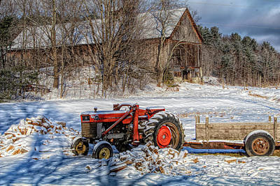 Photograph - Vermont Farm Rustic Barn by Jeff Folger
