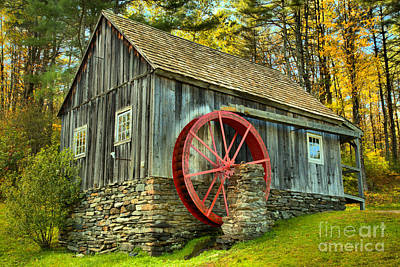 Photograph - Vermont Grist Mill In The Woods by Adam Jewell