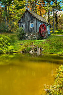 Photograph - Vermont Grist Mill Portrait by Adam Jewell