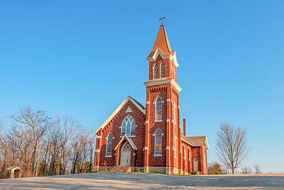 Photograph - Vermont Lutheran Church by Todd Klassy