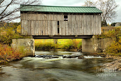 Photograph - Vermont Mudgett Covered Bridge by Adam Jewell