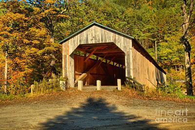 Photograph - Vermont Scott Covered Bridge by Adam Jewell