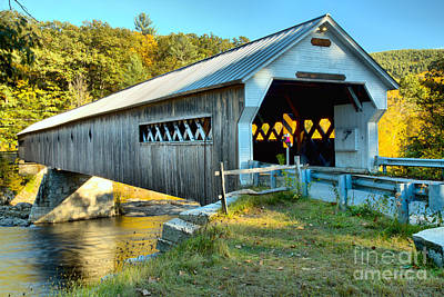 Photograph - Vermont West Dummerston Covered Bridge by Adam Jewell