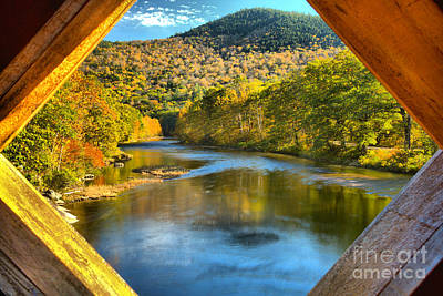 Photograph - Vermont West River Framed by Adam Jewell