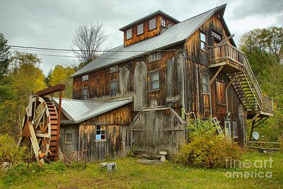 Photograph - Vermont Wooden Grist Mill by Adam Jewell