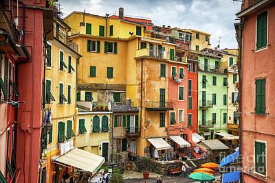Photograph - Vernazza Cinque Terre Strolling Into Town by Wayne Moran