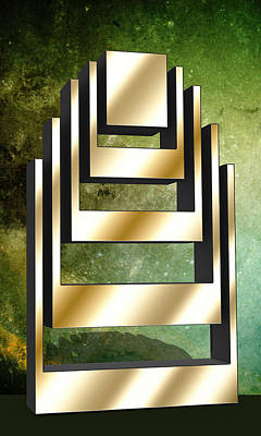 Digital Art - Vertical Design 2 by Chuck Staley