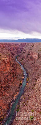 Landmarks Royalty Free Images - Vertical Panorama of Rio Grande Gorge Picuris Peak and Sangre de Cristo - Taos County New Mexico  Royalty-Free Image by Silvio Ligutti