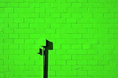 Photograph - Very Green Wall by Stuart Allen