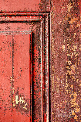 Photograph - Very Old Red Door  by Olivier Le Queinec