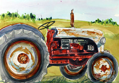Painting - Very Uhfordable Tractor by Tim Ross