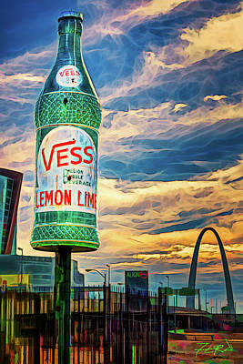 Photograph - Vess Soda Bottle by Robert FERD Frank