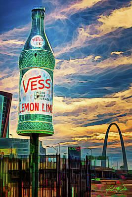 Book Quotes - Vess Soda Bottle by Robert FERD Frank