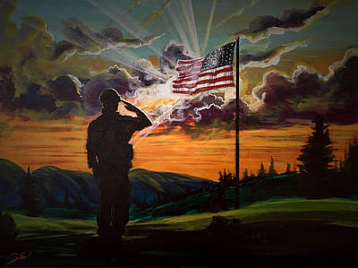 Painting - Veterans Day by Joel Tesch