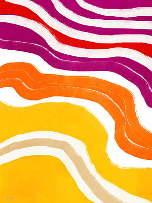 Mixed Media - Vibrant Waves 1- Art By Linda Woods by Linda Woods