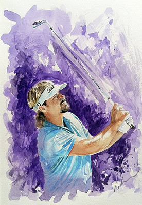 Painting - Victor Dubisson by Mark Robinson