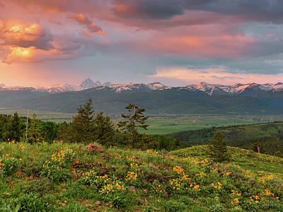 Photograph - Victor Idaho Sunset by Leland D Howard