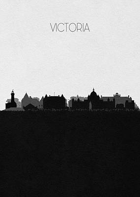 Digital Art - Victoria Cityscape Art by Inspirowl Design