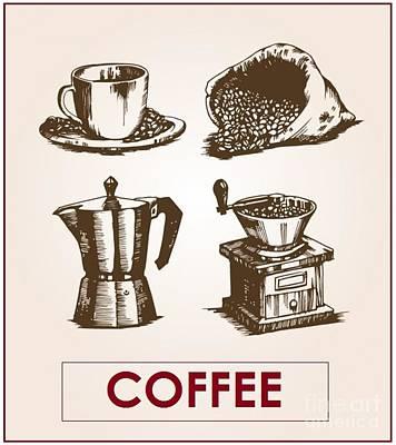 Digital Art - Victorian Coffee by John Lyes
