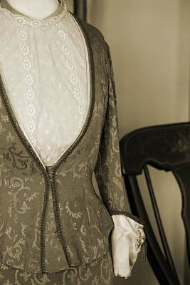 Photograph - Victorian Dress In Sepia by Colleen Cornelius