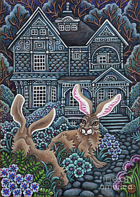 Painting - Victorian Hares 2 by Amy E Fraser