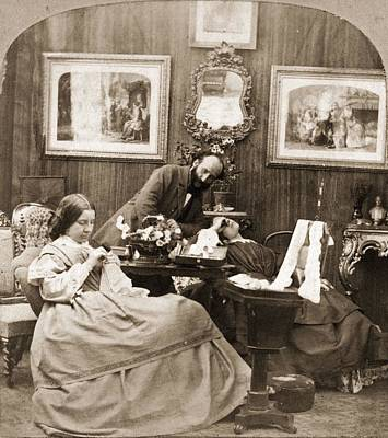 Victorian Life Art Print by Otto Herschan Collection