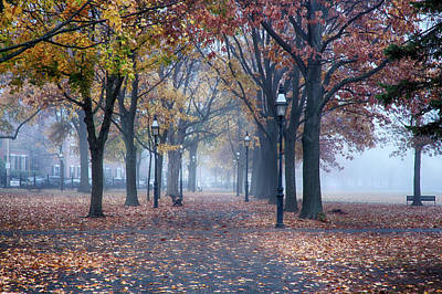 Photograph - Victorian Salem Common In Fog by Jeff Folger