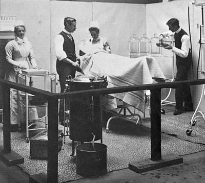 Photograph - Victorian Surgery by Hulton Archive