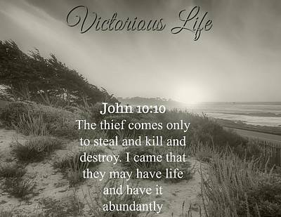 Photograph - Victorious Life 324 by David Norman