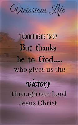 Photograph - Victorious Verses 1 15 57 by David Norman