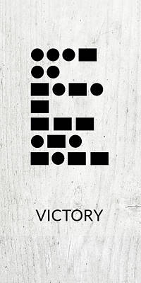 Digital Art - Victory Morse Code 2- Art By Linda Woods by Linda Woods